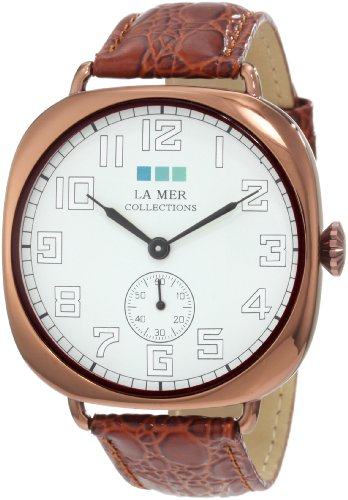 La Mer Collections Women's LMOVW2030 Brown Copper Oversized Vintage Watch Collection Brown Dial