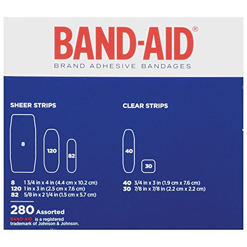 Band-Aid Brand Comfort-Flex Adhesive Bandages Variety Pack, 280 Count