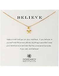 Dogeared 'Believe' Nautical Star Charm Bead Chain Necklace