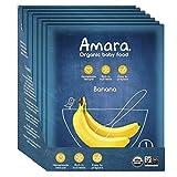 Amara Organic Baby Food, Banana, Healthy Baby & Infant Food, Travel...