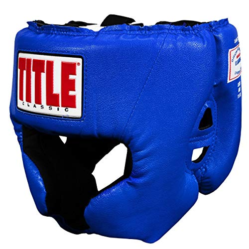 (Title Boxing Classic USA Boxing Competition Headgear, Blue, Medium)