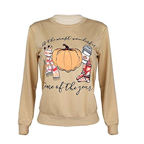 kaifongfu Halloween Long Sleeve Sweatshirt for Women Pullover