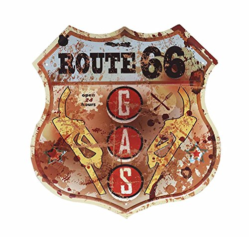 HANTAJANSS Road Signs Route 66 Metal Signs for GAS Station Decorations Route 66 Gas Stations