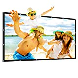 100' HD Projector Screen 16 : 9 Collapsible Portable Home and Outdoor Movie Screen with Hanging Hole Support Front Rear Projection(100 Inch Foldable Polyester Screen)