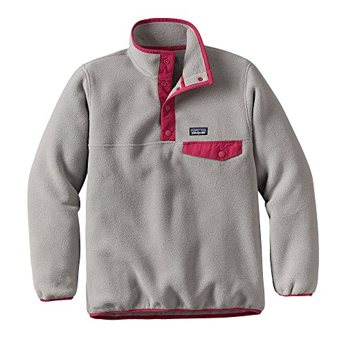 Patagonia G LW Synchilla Snap-T Pullover Sweatshirt Drifter Grey Girls XL by Patagonia