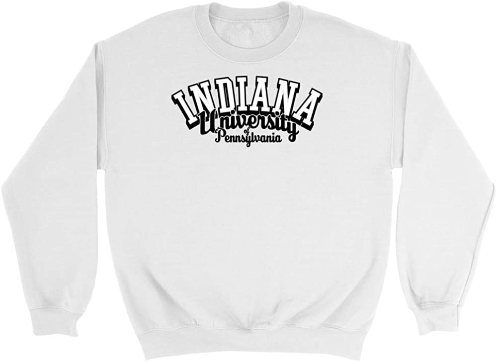 Official NCAA Indiana University Pennsylvania Hawks CD7DG02 Mens//Womens Boyfriend Sweatshirt