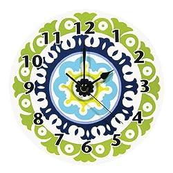 Trend Lab Waverly Solar Flair Wall Clock, Blue/Green