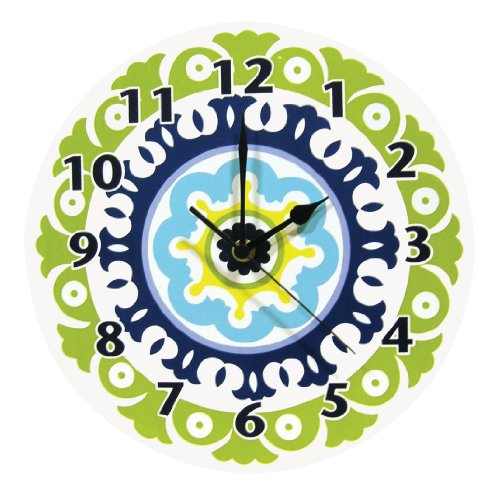 Trend Lab Waverly Solar Flair Wall Clock, Blue/Green