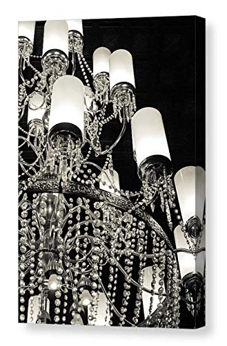 - Sparkling Crystal Chandelier Wall Art on CANVAS Elegant Black and White Photography Old-world Decor Hotel del Coronado San Diego California Print Ready to Hang 8x12 12x18 16x24 20x30