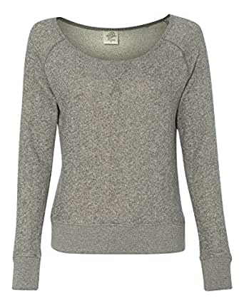 Independent Trading Co. PRM2400 - Juniors' Wide Neck Sweaterfleece Crew