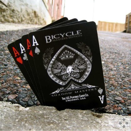 Bicycle Shadow Masters BLACK Deck of Playing Cards by Ellusionist