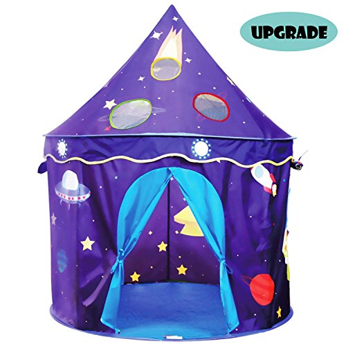 Eggsnow Kids Play Tent Castle Play Tent for Boys and Girls,Folding Toddler Tent for Indoor and Outdoor Fun Plays-Upgraded by Eggsnow