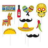 10-Piece Photo Props For Party, Serape Fiesta