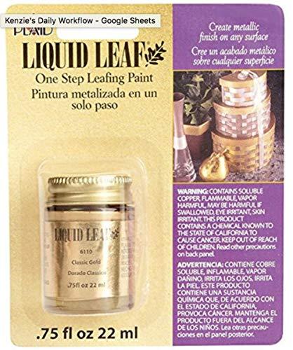 Liquid Leaf Paint One Step Leafing Paint, 0.75-Ounce, Original (Bright (Classic) Gold) ()