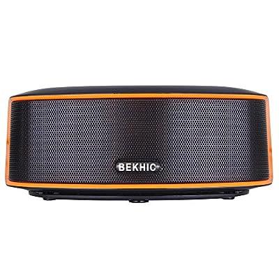 Bluetooth Speakers, Bekhic 3D-GS HIFI Portable Wireless Bluetooth Speaker (Black)