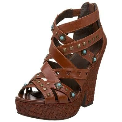 Amazon.com | Zodiac Women's Zema Platform Sandal, Brown, 6