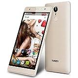 TIMMY M20 Pro 5.5'' IPS 4G-LTE-Smartphone Android 6.0 1.3GHz Dual SIM Handy ohne Vertrag Quad Core 1GB RAM+16GB ROM Dual Kamera Fingerabdruck Smart Gestures Gold