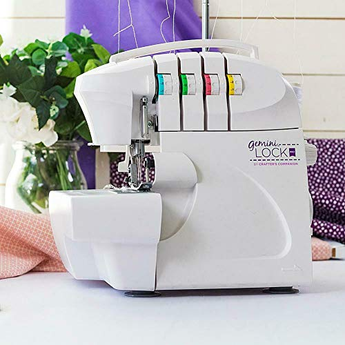 Fantastic Deal! Crafter's Companion Gemini Lock Pro Serger, Color-Coded Threading Guide, Dial Stitch...