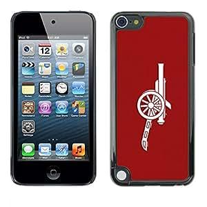 TECHCASE**Cubierta de la caja de protección la piel dura para el ** Apple iPod Touch 5 ** Red Cannon