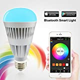 MagicLight Pro Bluetooth Smart LED Light Bulb - Smartphone Controlled Dimmable Multicolored Color Changing LED Lights - Works with iPhone, iPad, Android Phone and Tablet
