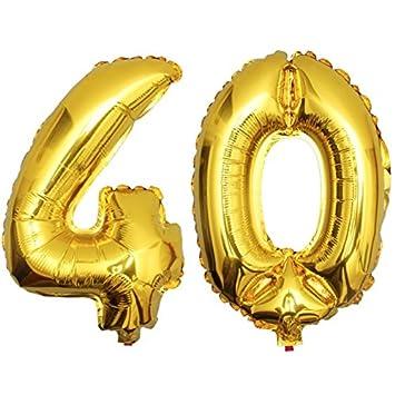 DekoRex® 40 Globo en Oro 80cm de Alto decoración cumpleaños ...