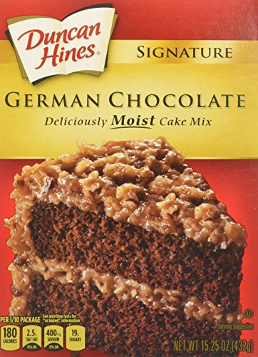 Duncan Hines Signature Cake Mix, German Chocolate, 15.25 Ounce (Pack of - Duncan Cookie Chocolate Mix Hines