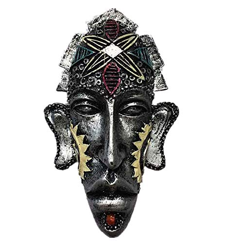 Indigenous Mask of Kenya Tanzania Africa Style 3D Fridge Magnet Home & Kitchen Decoration Magnetic Sticker,Africa Refrigerator Magnet Travel Souvenir Gift Collection