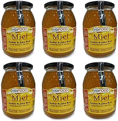 Miel de Azahar con Jalea Real - 6kg - Producida en España - Estimulante y altamente nutritiva - Aroma Floral Intenso y Sabor Fuerte y Dulce: Amazon.es: Alimentación y bebidas