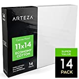 Arteza 11 X 14 Canvas Panels, 100% Cotton (Pack of 14)Doggy Supply Mall