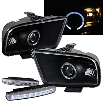 51CDlS t2IL._SY355_ amazon com 2006 ford mustang halo projector headlights 8 led
