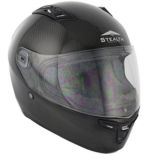 Nuevo casco Moto furtivo hd117 completo de fibra de carbono: Amazon.es: Deportes y aire libre