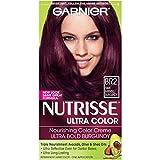 Garnier Nutrisse Ultra Color Nourishing Permanent Hair Color Cream, BR2 Dark Intense Burgundy (1 Kit) Red Hair Dye (Packaging May Vary)