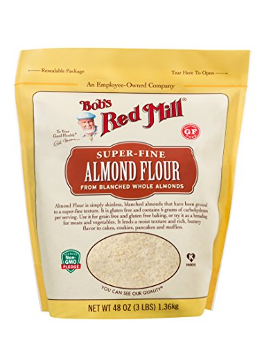 Bob's Red Mill Super-Fine Gluten Free Almond Flour, 3 Pound (Wheat No Flour)