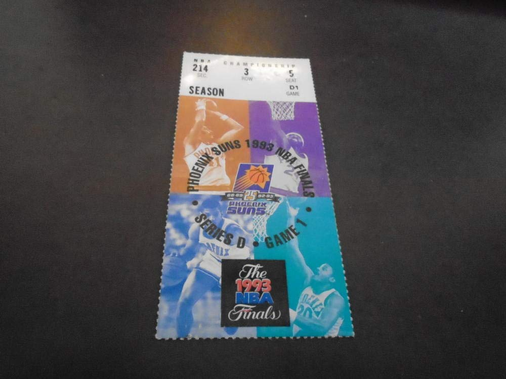 1993 NBA FINALS TICKET STUB CHICAGO BULLS PHOENIX SUNS MICHAEL JORDAN 31PTS