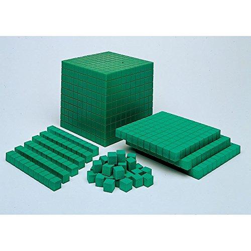 Eta Hand2mind Green Manipulite Foam Base Ten Blocks Place