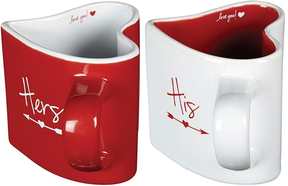Heart-Shaped Love You Coffee Mug Set