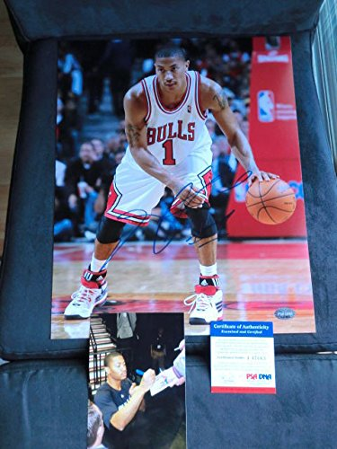 acb3ef6b421 Derrick Rose Hot Autographed Signed Memorabilia Bulls Rookie 11X14  Photograph PSA DNA Cert Proof at Amazon s Sports Collectibles Store