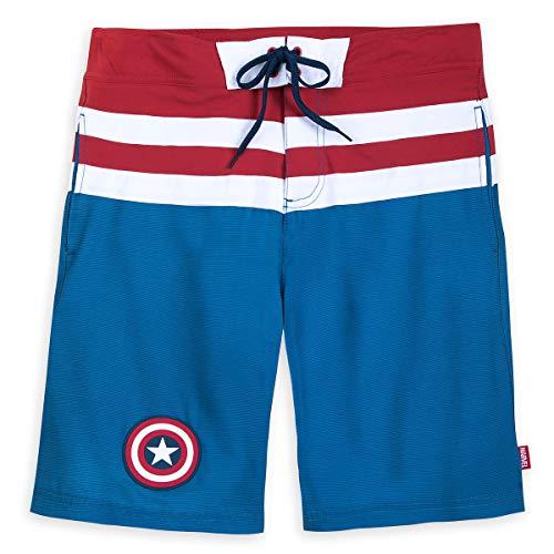 Marvel Captain America Swim Trunks for Men Size Mens L Blue