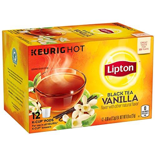 Lipton Black Tea K Cups, Vanilla 12 ct