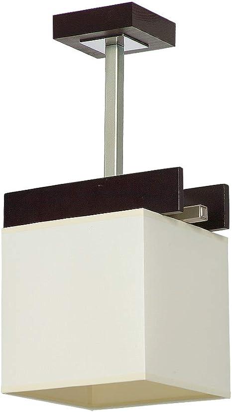 luz de Experiencias F/LU/171110/624 elegante estilo Bauhaus – Lámpara de techo 1 x E27 hasta 60 W 230 V gewebten plástico & Metal Cocina: Amazon.es: Iluminación