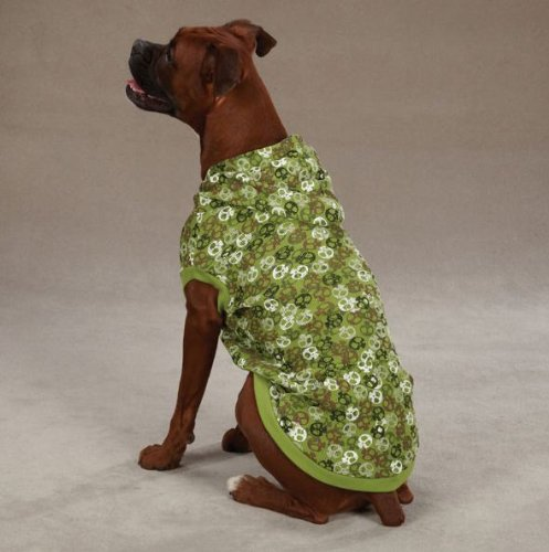Casual Canine Polyester/Cotton Bone Heads Waffle Dog Hoodie, X-Large, 24-Inch, Green