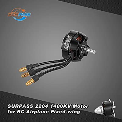 Goolsky SURPASS High Performance 2204 1400KV 14 Poles Brushless Motor for RC Airplane Fixed-wing: Toys & Games