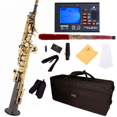 mendini-by-cecilio-mss-bng-92d-black-nickel-plated-and-gold-keys-straight-b-flat-soprano-saxophone-w