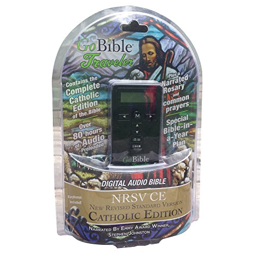 GoBible Traveler Digital Audio Bible- New Revised Standard Version, Catholic Edition (Glory Be To The Father In Spanish)