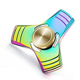 Fidget Spinner Toy Relieve Stress High Speed Focus Toy for Killing Time (2 A A Rainbow)