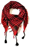 Shemagh Desert Palestinian Arafat Scarf for Men & Women of All Ages (Red & Black)