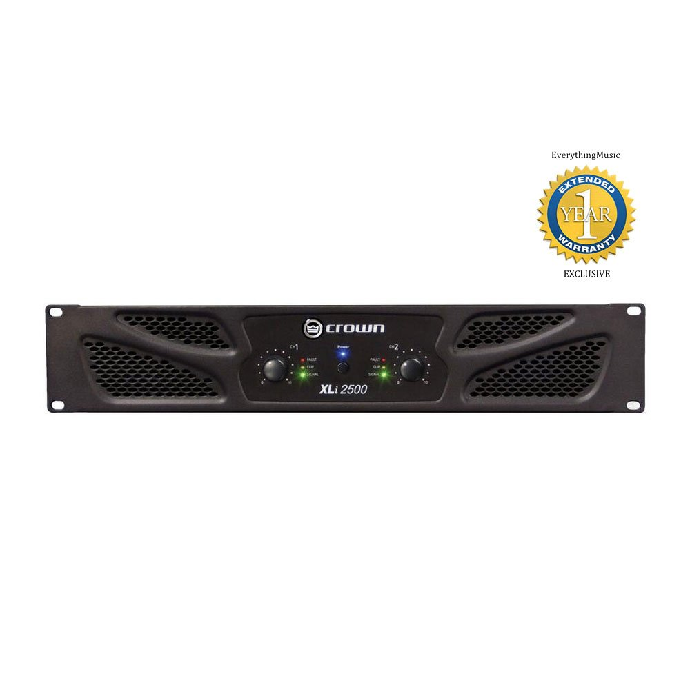 amazon com: crown xli 2500 2-channel, 750w 4� power amplifier with