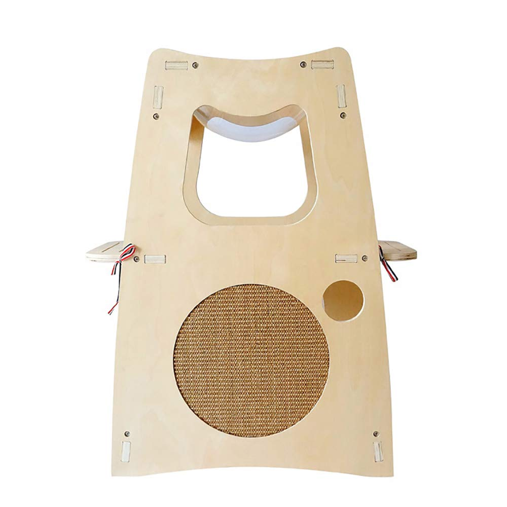 Creative Pet Nest Solid Wood Multifunctional Cat Climbing Frame Comfortable Cat Bed Villa Suitable for Cat Rest and Entertainment