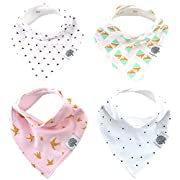 The Good Baby Bandana Drool Bibs – 4 Pack Baby Bibs for Girls -  Blush Set
