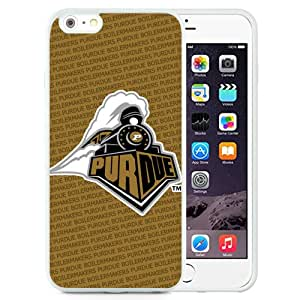 New Fashion Custom Designed Cover Case For iPhone 6 Plus 5.5 Inch Phone Case With Ncaa Big Ten Conference Football Purdue Boilermakers 12 Protective Cell Phone TPU Cover Case for Iphone 6 Plus Generation 5.5 Inch White
